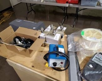 Casters and a little fine gauge 3d print Filament