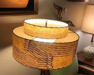 Vintage Walter Von Nessen Table Lamp With Shade