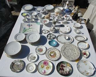 LOTS OF INCREDIBLE CLLECTABLE PORCELAIN ITEMS. LIMOGE,  ROYAL ALBERT, VILLEROY BOCH AND MUCH MORE