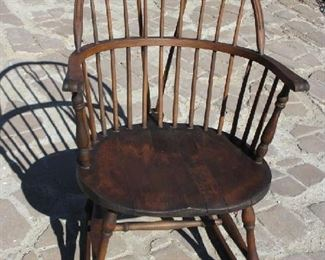SIGNED ANTIQUE ROCKING CHAIR