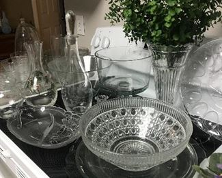 Beautiful glass crystal pieces