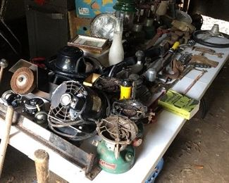 Garage full of tinkering cool items