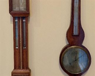 Very special antique barometers! 4 in all!