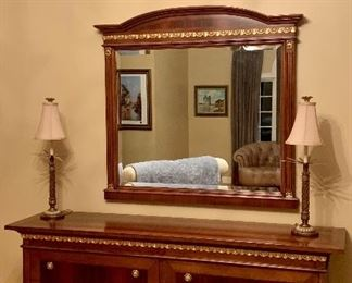 Mirror and Dresser - both purchased at Milan Furniture
