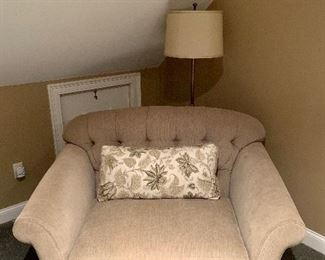 Seating for 2! Purchased at Domain: Winslow Tufted Chair