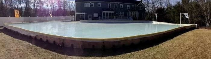 Back yard ice arena