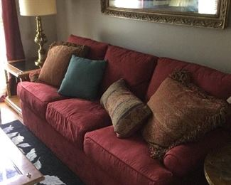 Like new suede sleeper sofa