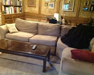 Sectional sofa and Asian style coffee table