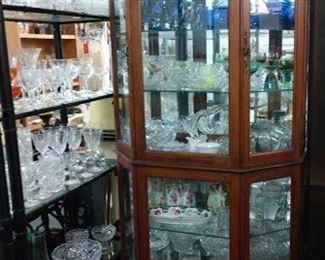 Curio 30% off,  30-50% off contents                                                                Glassware on shelving 50-75% off