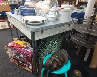 Vintage kitchen table and two chairs, 30% off orig price