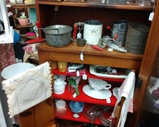 Kitchen cabinet and items 50% off