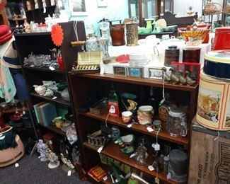 50% off all items pictured!  Shelving for sale