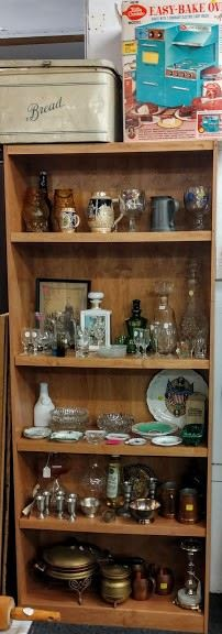 All items for sale 30-50% off   (bread box sold)                             Shelf for sale   (there are 2 available)