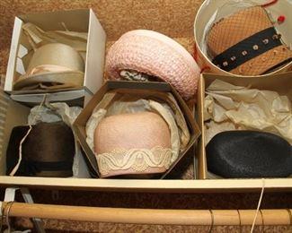 assortment of lady's stylish hats