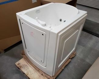 """412: Therapy Tubs Model 3238 with Jets and Pump Tub measures approximately 32"""" x 38"""" x 41"""""""