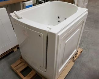 """416: herapy Tubs Model 3238 with Jets and Pump Measures approximately 32"""" x 38"""" x 38"""" tall"""