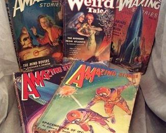 Vintage Sci-Fi Pulp Magazines