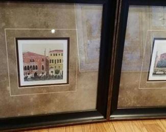 tbs pair Venetian watercolor repros