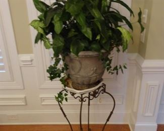 """Metal Plant Stand 31"""" tall   Plant is live in a 20"""" pot"""