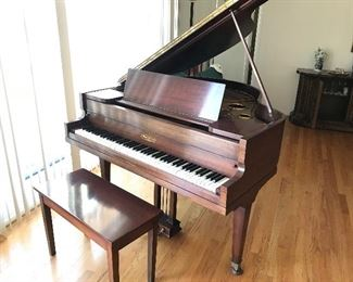 1926-1927 Vose and Sons Baby grand piano