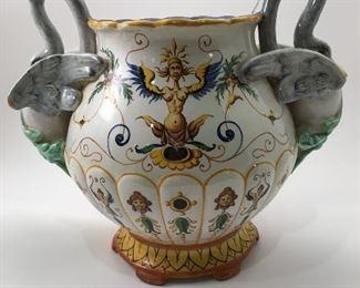Richard Ginori—Grotesque Porcelain Art Jar