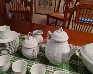 Lovely Limoges Hawthorn tea and coffee set service for 12