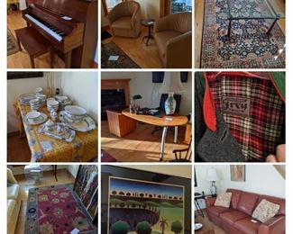 gorgeous sale with high quality furniture, rugs, lamps, collectibles and more