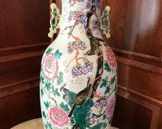 Oversized antique Asian vase