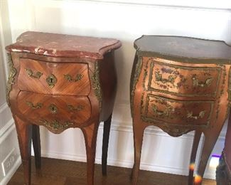 Pair of antique bedside tables