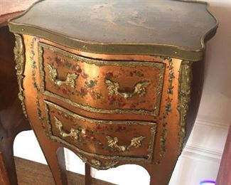 Hand-painted antique nightstand
