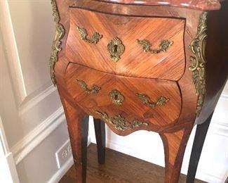 antique marble-top nightstand
