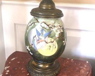 antique porcelain lamp