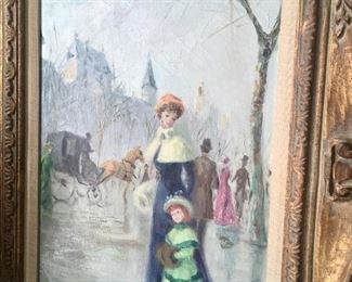 Oil on canvas by listed artist Ramon L. (Paris 1912)