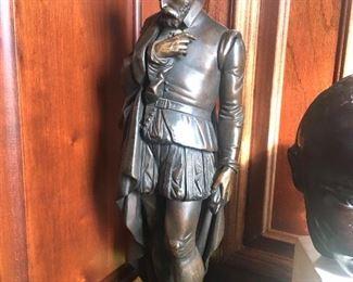 antique bronze Edgar Allan Poe sculpture (with a hidden compartment)