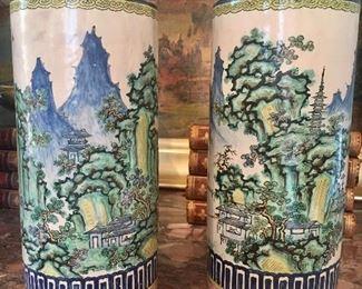 pair of antique Asian vases