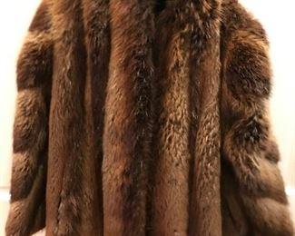 Ladies red fox fur jacket