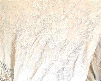 vintage silk piano scarf