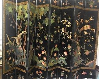 8' tall & 12' wide (8 panel) coromandel screen