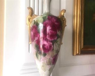 "18"" tall antique  Beleek vase"