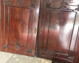 "31"" wide (each) doors from a wardrobe, mirror on backside"