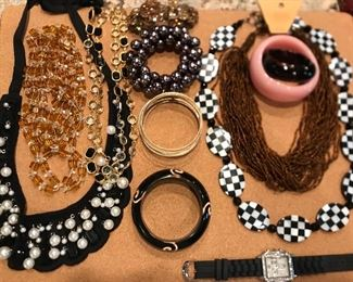A selection of ladies costume jewelry