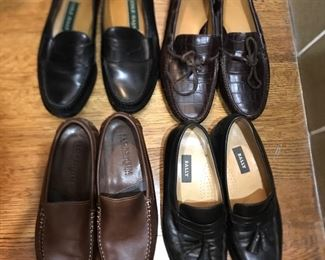 Men's 10.5 loafers; Cole Haan, Bally,