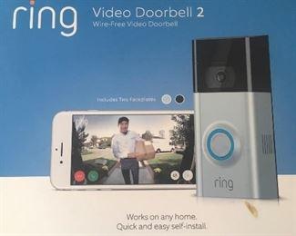 Ring video doorbell system (new in box)