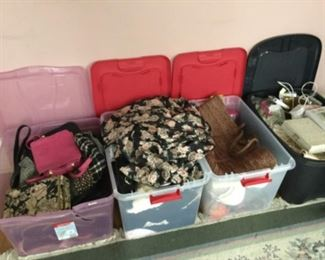 Lots of misc. women's clothing and purses etc