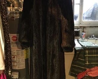 Beautiful mink and seal full length coat