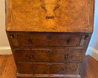 Antique Burled Secretary