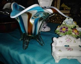 Many blown glass pieces