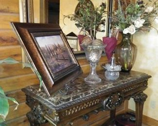 Ashley furniture marble top wall/console table
