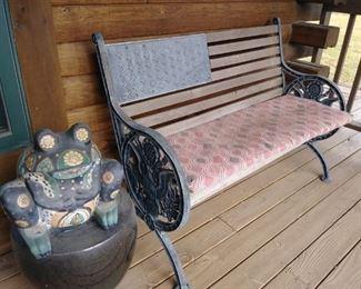 outdoor bench/decor