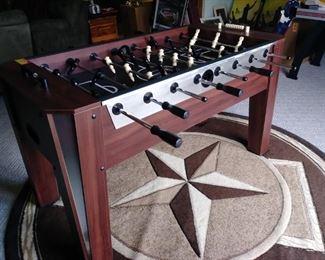 Eastpoint Fuseball table, cool rug